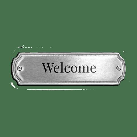 choice of size /& colour PERSONALISED NOTICE CUSTOM MADE aluminium METAL SIGN